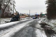 Zdarzenie drogowe w Godawach. Droga zablokowana