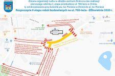 Przebudowa ulicy 700-lecia w Żninie ruszy od 20 kwietnia