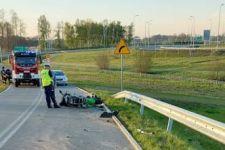 Policjanci wyjaśniają okoliczności zdarzenia drogowego w Lubczu