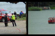 Strażacy nie przestają szukać dwóch mężczyzn w jeziorze Chomiąskim [film]