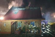 Pożar domu w sylwestra