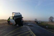 """Wypadek z udziałem dwóch samochodów ciężarowych na krajowej """"piątce"""""""
