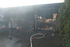 Pożar warsztatu przy ulicy Zamkniętej w Żninie